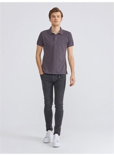 Xint XINT Polo Yaka Pamuklu Slim Fit Tişört Antrasit